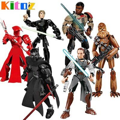 New Star War Buildable Action Figure Kylo Ren Jango Boba Chewbacca Free Shipping