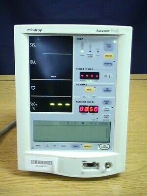 L👀K .: Mindray Accutorr Plus w/ Nellcor Input - Patient (Vital Signs) Monitor