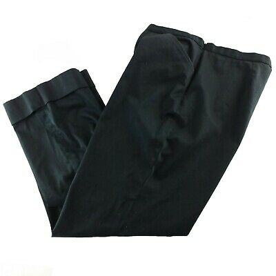 LRL Ralph Lauren Womens Pants Black Size 14 Straight Leg Cuffed Crop Stretch