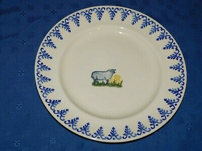 Brixton Potteries hand painted lamb sheep dinner display plate