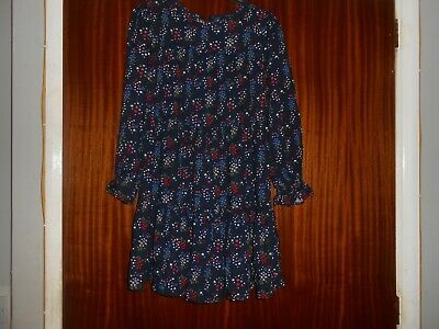 girls 11/12 years m&s floral long sleeve flowy dress in vgc