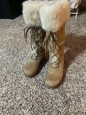 New W//Defects Women/'s Canyon River Blues 21984 Tan Marshmallow Boots 21Y