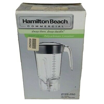 NEW 44oz. Hamilton Beach 6126-250 Polycarbonate Container for Commercial Blender