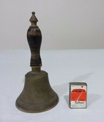 Vintage Brass Hand Held School Bell