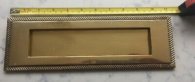 Brass Letter Box Old Used
