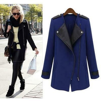 Winter Women's Long Warm PU Leather Sleeve Jacket Coat Parka Trench CLSV 01