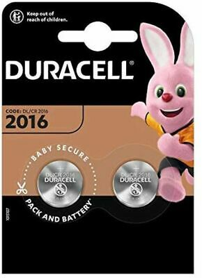 Duracell Specialty 2016 Lithium Coin Battery 3 V, Pack of 2 (DL2016/CR2016)