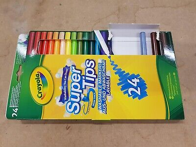 Crayola SuperTips Washable Felt Tip Colouring Pens, Pack of 18