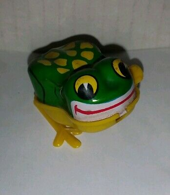 Tiny Old Tin Litho & Plastic Wind up Toy Frog YONE Japan Non Working