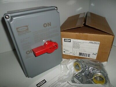 **NEW IN BOX** HUBBELL HBLDS10 CIRCUIT LOCK 100-Amp DISCONNECT SWITCH 600V 100A