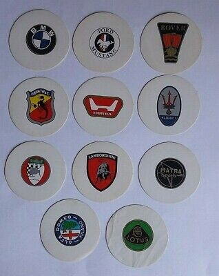 Lot of 11 car brand stickers BMW MASERATI MC LAREN LAMBORGHINI Etc