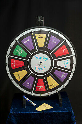 Professional 24in Prize Wheel spinning dry erase and customizable graphics