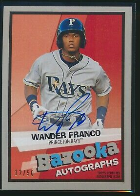2019 Topps Heritage Minor League Bazooka Autographs Auto Wander Franco 12/50