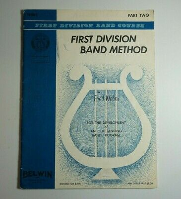 First Division Band Course Method Part Two 2 Drums Snare Vintage Method Book