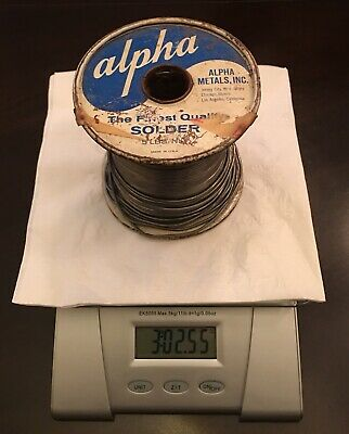Vintage Unused Solder (((3lbs 2oz))) Alpha Metals, Inc.