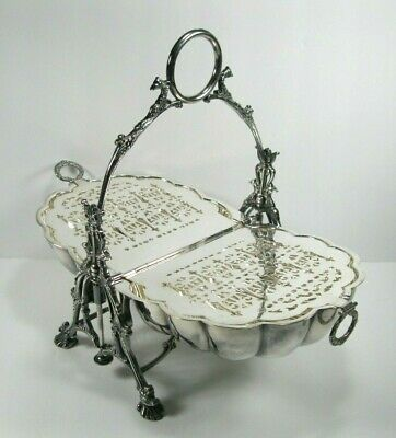 Victorian style Biscuit Bun Warmer Cookie Muffineer Antique Silver Plate Shell