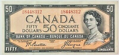 1954 Bank of Canada $50 BC-42a Modified Portrait ,Serial A/H8448312- #36098