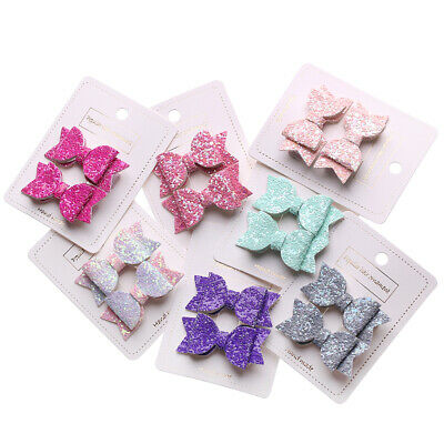 Baby Girls Glitter Sequin Bow Kids Hair Clips Cute Hairpins Bows Headwear