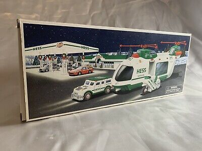 2001 Hess Helicopter with Motorcycle and Cruiser NIB