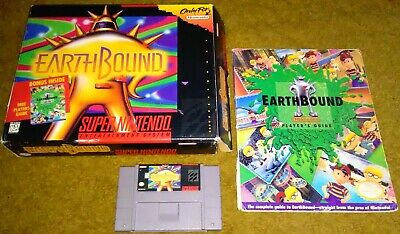 Earthbound (Super Nintendo) SNES complete, CIB, scratch & sniff, authentic, READ