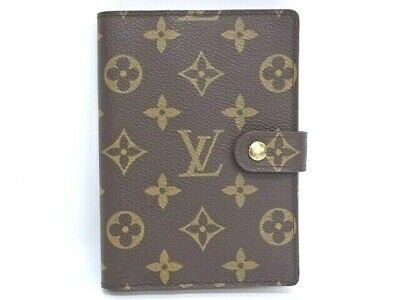 Auth LOUIS VUITTON Agenda Cover PM R20005 Monogram Brown France 06160343400 G