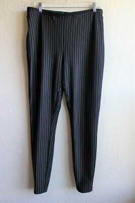 Womens City Chic Black White Striped Skinny Pants Size Small 16