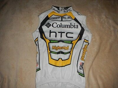 Original UCI Pro Tour Team Columbia Highroad Winter Thermo Weste Größe 3 Rar