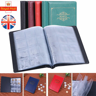 Collector Coin Album 120 coins A-Z 10p pence 50p £1 ‎€1 €2 Folder Book Black BL1