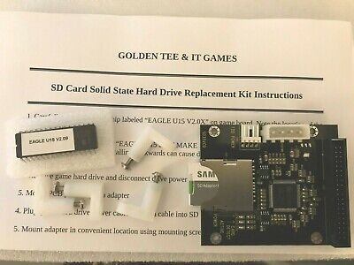 IT Golden Tee Fore 2001 Arcade Game Compact Flash SD Card Hard Drive Upgrade Kit
