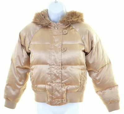 OLD NAVY Girls Padded Jacket 11-12 Years Large Gold Polyester  KL01