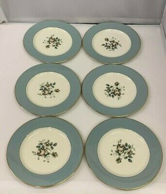 """Set of 6 UNUSED Royal Doulton Rose Elegans 8"""" Plates TC 1010 - more available"""