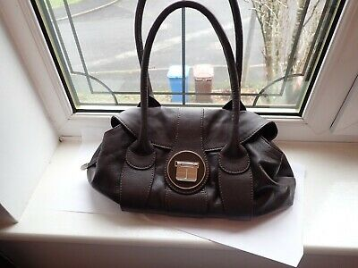 Jasper Conran Large Leather Handbag in Brown Lovey Design & so well made used gc
