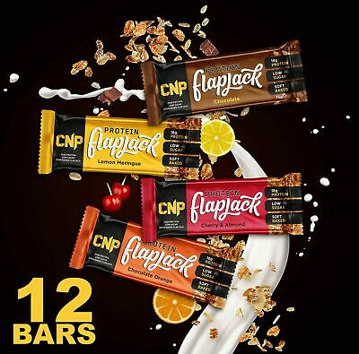 CNP Pro Flapjack High Protein Rolled Oats Low Sugar Protein Bar 12 x 75g Bars