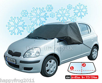 Car Vehicle ANTI FROST COVER for windscreen windshield WINTER PLUS black