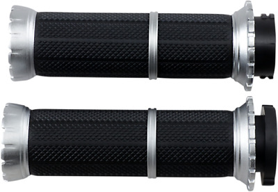 Kuryakyn Riot Grips for Harley Davidson Cable Silver 3580