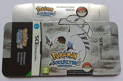 100% ORIGINAL BIG BOX *ONLY* for Pokemon SoulSilver Nintendo DS (NO game or PW)