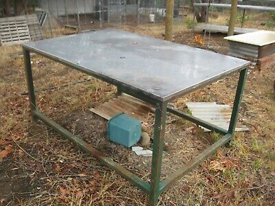 Stainless Steel Table 1200w x1800l x900h on Solid Steel 50x50 frame