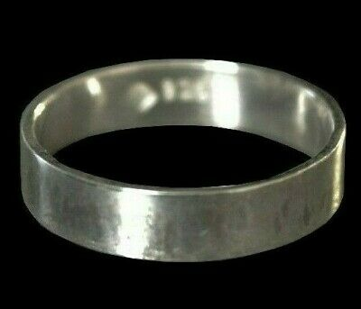 925 Real Solid Sterling Silver 2/3/4mm Flat-Shaped Wedding Ring Band- All Sizes