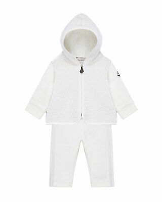 NWT NEW Moncler baby girls ivory 2pc tracksuit jacket pants 9/12m