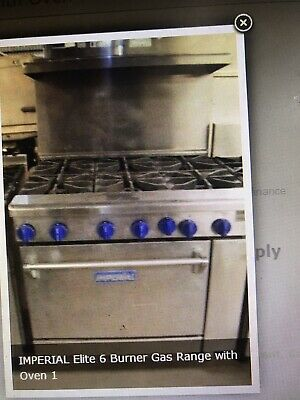 IMPERIAL COOKER WITH OVEN IR-6 - NO KICK PLATE Fully Refurbished