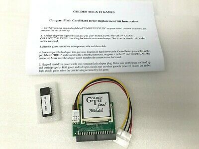 Golden Tee Arcade Fore! Compact Flash Upgrade Kit w/ Eprom -Pick Year 2001-2006