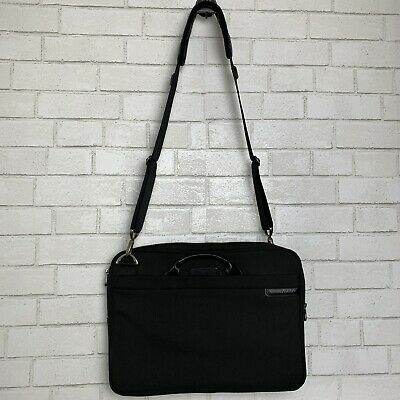 Briggs & Riley Travelware Laptop Bag Computer Black Briefcase Crossbody Shoulder