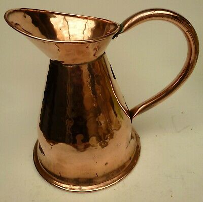 Large Antique Solid Copper Jug Kitchenalia Collectable Useful Display Item 22Cm
