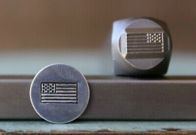 SUPPLY GUY 8mm American Flag Metal Punch Design Stamp SGCH-160