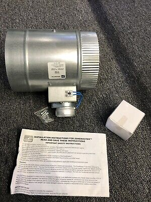 "Suncourt Central Air &Heat Components 6"" Automated Damper Normally Closed"