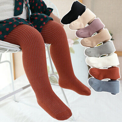 Kids Girls Winter Warm Thick Fleece Leggings Lined Long Trousers Pants Stockings