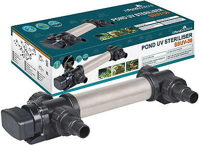 All Pond Solutions SSUV-36 Aquarium UV Clarifier/Steriliser, 36 W