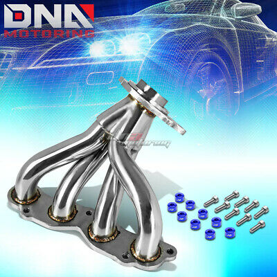 J2 FOR 90-91 DA//DB B18 EXHAUST MANIFOLD 4-2-1 HEADER+GOLD WASHER CUP BOLTS