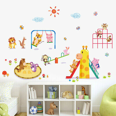Zoo Animals Large Wall Stickers Decal Vinyl Children Kids Bedroom Home Kindy