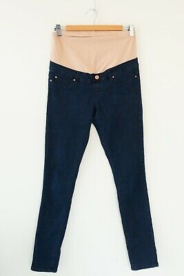 Jeanswest Women's Maternity Jeans Size 8 Blue Maternity Skinny Excellent